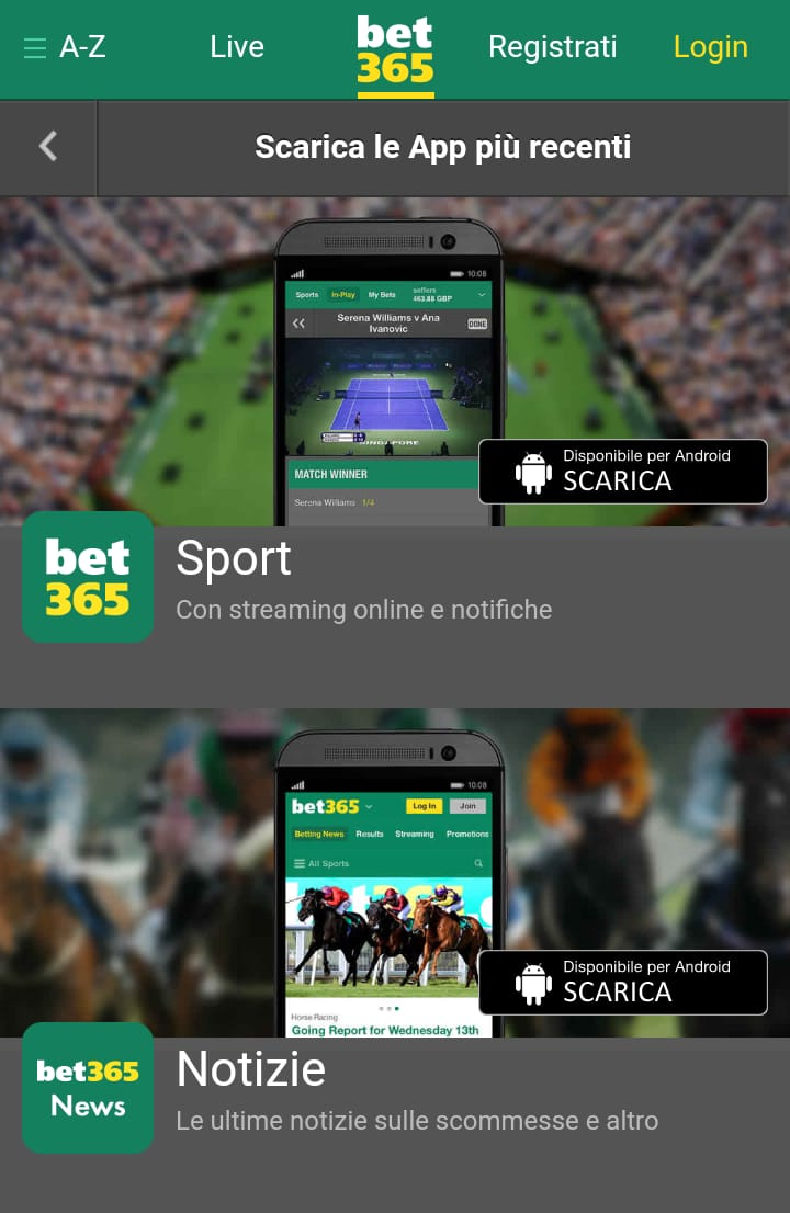 bet365 mobile scarica app
